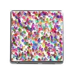 Colorful spirals on a white background             Memory Card Reader (Square)