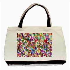 Colorful spirals on a white background             Basic Tote Bag