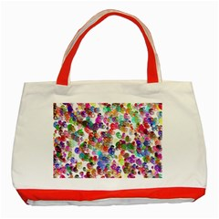Colorful spirals on a white background             Classic Tote Bag (Red)