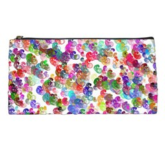 Colorful spirals on a white background       Pencil Case