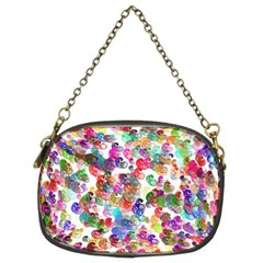 Colorful spirals on a white background        Chain Purse (Two Sides)