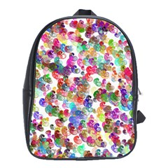 Colorful spirals on a white background             School Bag (Large)