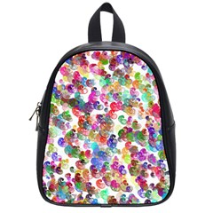 Colorful spirals on a white background             School Bag (Small)