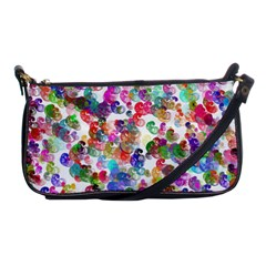 Colorful spirals on a white background             Shoulder Clutch Bag