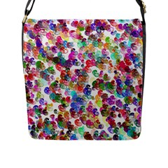 Colorful spirals on a white background             Flap Closure Messenger Bag (L)