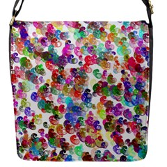 Colorful spirals on a white background             Flap Closure Messenger Bag (S)