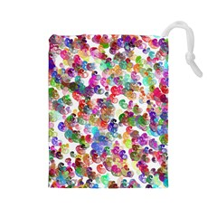 Colorful spirals on a white background             Drawstring Pouch