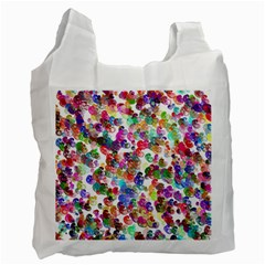 Colorful spirals on a white background             Recycle Bag