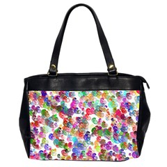Colorful spirals on a white background             Oversize Office Handbag (2 Sides)