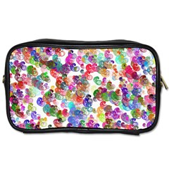 Colorful spirals on a white background             Toiletries Bag (Two Sides)