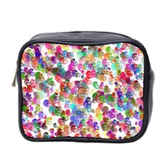 Colorful spirals on a white background             Mini Toiletries Bag (Two Sides)