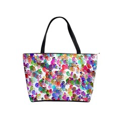Colorful spirals on a white background             Classic Shoulder Handbag
