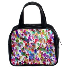 Colorful spirals on a white background             Classic Handbag (Two Sides)
