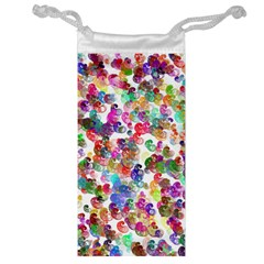 Colorful spirals on a white background             Jewelry Bag