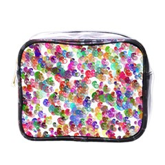 Colorful spirals on a white background             Mini Toiletries Bag (One Side)