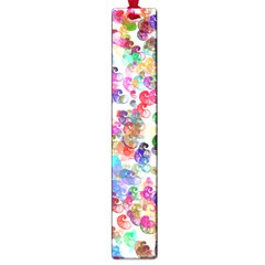 Colorful spirals on a white background             Large Book Mark