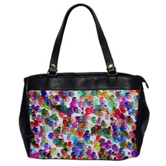 Colorful spirals on a white background             Oversize Office Handbag