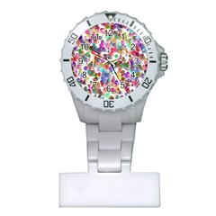 Colorful spirals on a white background             Nurses Watch