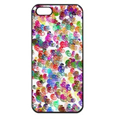 Colorful spirals on a white background       Apple iPhone 5 Seamless Case (Black)