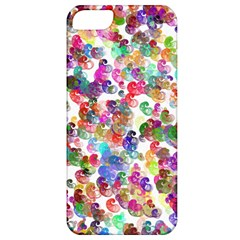 Colorful spirals on a white background       Apple iPhone 5 Hardshell Case (PC+Silicone)