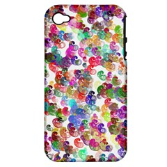 Colorful spirals on a white background       Apple iPhone 3G/3GS Hardshell Case (PC+Silicone)