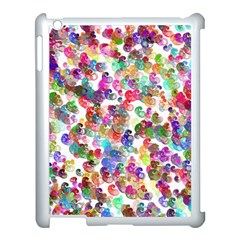 Colorful spirals on a white background       Apple iPad 3/4 Case (Black)