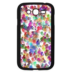 Colorful spirals on a white background       Samsung Galaxy S4 I9500/ I9505 Case (Black)
