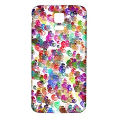 Colorful spirals on a white background       Samsung Galaxy S5 Case (Black)