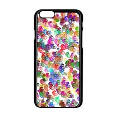 Colorful spirals on a white background       Apple iPhone 6/6S White Enamel Case