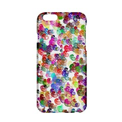 Colorful spirals on a white background       Apple iPhone 6/6S Black Enamel Case