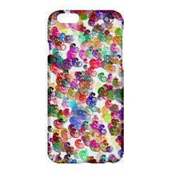 Colorful spirals on a white background       Apple iPhone 6 Plus/6S Plus Enamel White Case