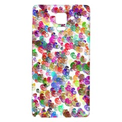 Colorful spirals on a white background       Samsung Galaxy Note Edge Hardshell Case