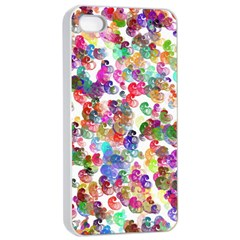 Colorful spirals on a white background       Apple iPhone 4/4s Seamless Case (Black)