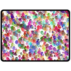 Colorful spirals on a white background            Plate Mat