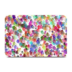 Colorful spirals on a white background            Large Bar Mat
