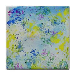 Watercolors Splashes              Face Towel by LalyLauraFLM