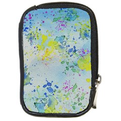 Watercolors Splashes              Compact Camera Leather Case by LalyLauraFLM
