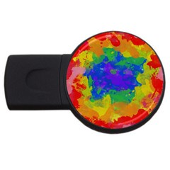 Colorful Paint Texture           Usb Flash Drive Round (4 Gb) by LalyLauraFLM