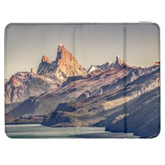 Fitz Roy And Poincenot Mountains Lake View   Patagonia Samsung Galaxy Tab 7  P1000 Flip Case by dflcprints