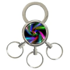Abstract Art Color Design Lines 3 Ring Key Chains by Nexatart