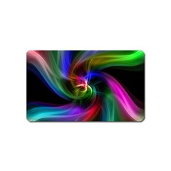 Abstract Art Color Design Lines Magnet (name Card) by Nexatart