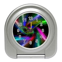 Abstract Art Color Design Lines Travel Alarm Clocks by Nexatart