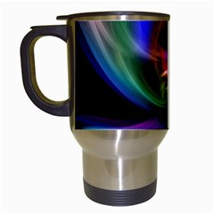 Abstract Art Color Design Lines Travel Mugs (white) by Nexatart