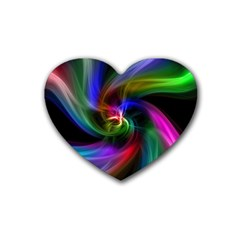 Abstract Art Color Design Lines Heart Coaster (4 Pack)