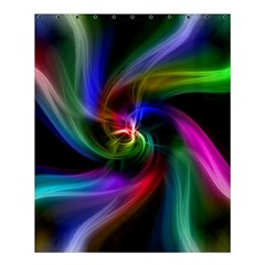 Abstract Art Color Design Lines Shower Curtain 60  X 72  (medium)