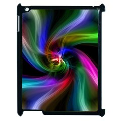 Abstract Art Color Design Lines Apple Ipad 2 Case (black)