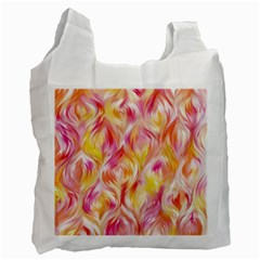 Pretty Painted Pattern Pastel Recycle Bag (one Side) by Nexatart