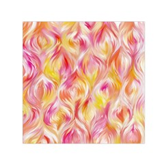 Pretty Painted Pattern Pastel Small Satin Scarf (square) by Nexatart
