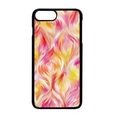 Pretty Painted Pattern Pastel Apple Iphone 7 Plus Seamless Case (black)
