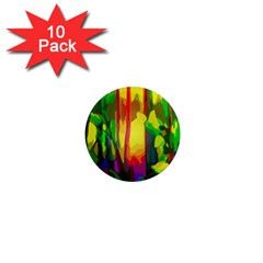 Abstract Vibrant Colour Botany 1  Mini Magnet (10 Pack)  by Nexatart